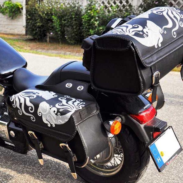 """Egyedi, kézzel készült bőr motoros táska kollekció a """"Halak"""" jegyében"""