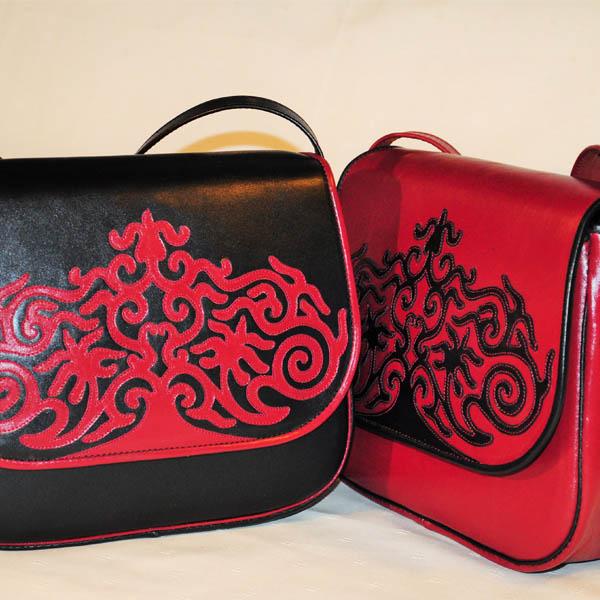 Női táskák bőrből, egyedi kézműves bőrtáskák készítése